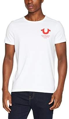 True Religion Men's Crew Neck Logo T-Shirt,Medium