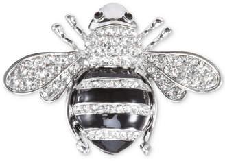 Nina Silver-Tone Pave Honey Bee Pin