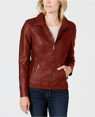 Style&Co. Style & Co Petite Faux-Leather Moto Jacket, Created for Macy's