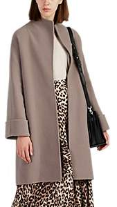 Giorgio Armani Women's Double-Faced Wool-Blend Belted Coat - Beige, Tan