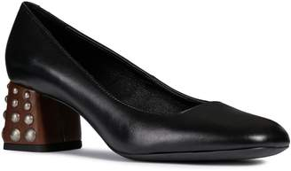 Geox Seyla Leather Block Heel Pump