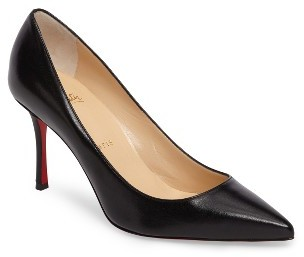 Women's Christian Louboutin Decoltish Pointy Toe Pump $675 thestylecure.com