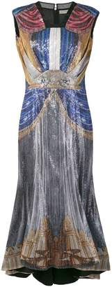 Mary Katrantzou sequin curtain pattern silk dress