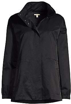 Eileen Fisher Women's Stand Collar Organic Cotton-Blend Jacket