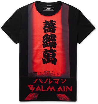 175bd5917bb6 Balmain Slim-Fit Logo-Print Cotton-Jersey T-Shirt