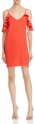 AQUA Cold-Shoulder A-Line Dress - 100% Exclusive $88 thestylecure.com