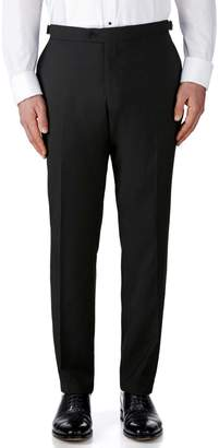Charles Tyrwhitt Black Slim Fit Dinner Wool Pants Size W34 L38