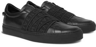 Givenchy Urban Street Logo-Jacquard Leather Slip-On Sneakers - Men - Black