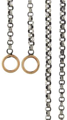 Marla Aaron Silver Rolo Chain Necklace - Yellow Gold Loops