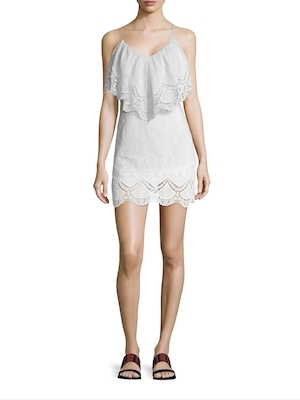 6 Shore Road Rum Punch Cotton Embroidered Mini Dress