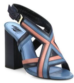 Lanvin Patchwork Leather Sandals $1,190 thestylecure.com