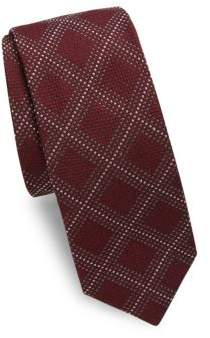 Canali Dots & Squares Silk Tie