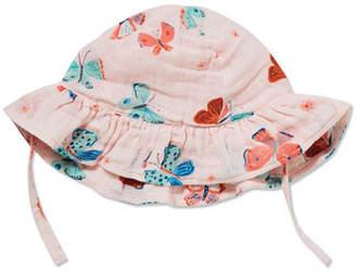 Angel Dear Butterfly Print Muslin Sun Hat, Size 0-24 Months