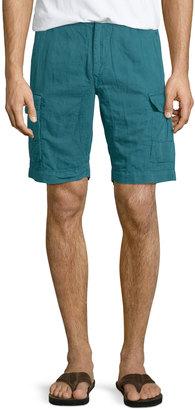 Robert Graham Hiker Cargo Shorts, Teal $110 thestylecure.com