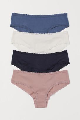 H&M 4-pack Cotton Hipster Briefs - Blue