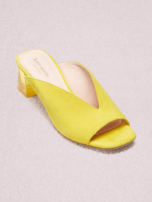 Kate Spade Caila Mules, Vibrant Canary - Size 5.5