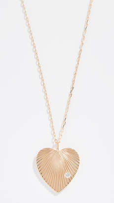 Adina 14k Large Diamond Heart Necklace