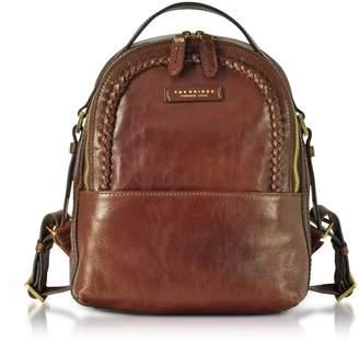 The Bridge Murakami Leather Backpack W/woven Trim