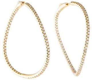 Anita Ko 18K Diamond Twisted Inside-Out Hoop Earrings
