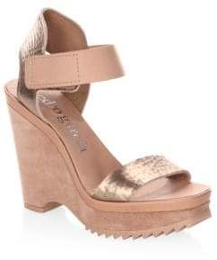 Pedro Garcia Franses Leather Platform Wedge Sandals