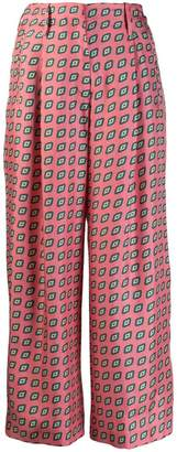 Etro diamond pattern cropped trousers