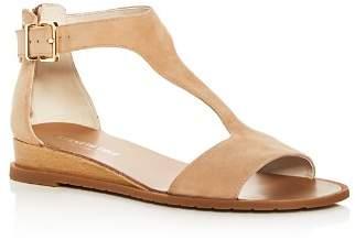 Kenneth Cole Women's Judd Suede T-Strap Demi Wedge Sandals