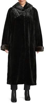 Gallery Plus Convertible Faux Fur Coat