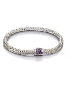 John Hardy Classic Chain Amethyst& Sterling Silver Extra-Small Bracelet