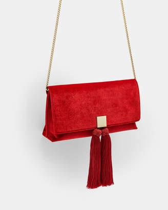 Ted Baker KARLY Velvet brocade tassel clutch