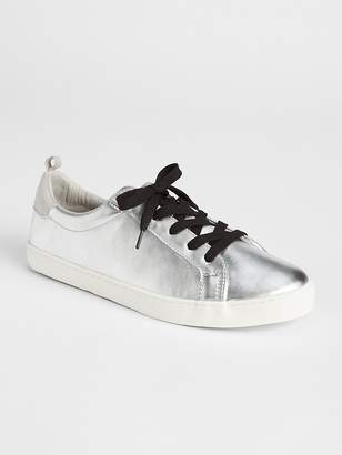 Gap Metallic Leather Lace-Up Sneakers