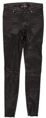 Veda Leather Mid-Rise Pants