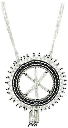 One Kings Lane Vintage Dream Catcher Beadwork Necklace - Thanks for the Memories