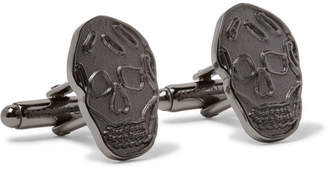 Alexander McQueen Skull Gunmetal-Tone Cufflinks - Men - Gunmetal