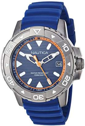 Nautica Men's 'EDGEWATER COLLECTION' Quartz Stainless Steel and Silicone Casual Watch