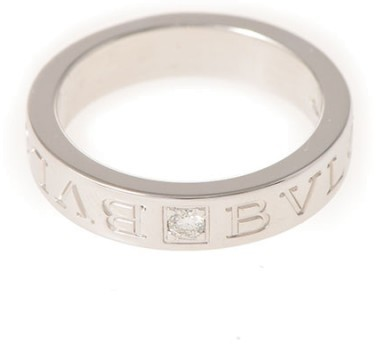 Bvlgari Bulgari 18K White Gold B-Zero1 Diamond Ring Size 4.5