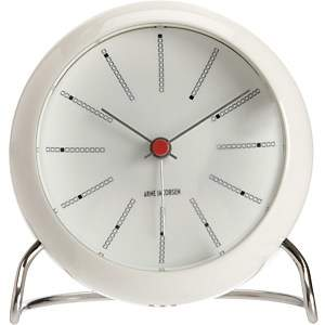 Ameico Bankers Alarm Clock-White
