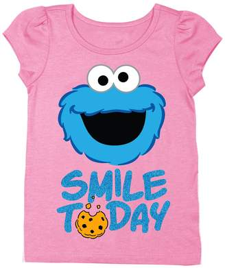 Freeze Sesame Street Cookie Monster Smile Today Tee (Toddler & Little Girls)
