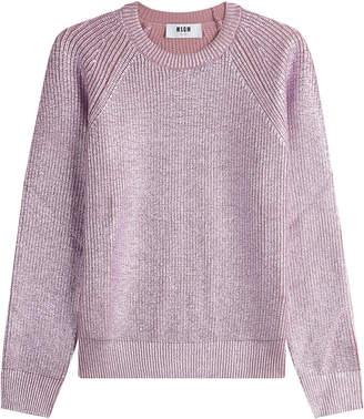 MSGM Metallic Wool Pullover