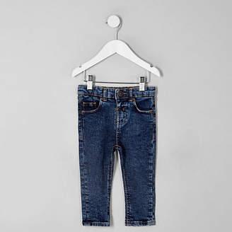 River Island Mini boys dark blue Sid skinny jeans