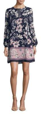 Vince Camuto Long-Sleeve Floral Shift Dress
