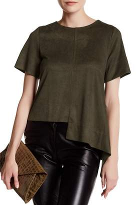 Gracia Asymmetrical Block Hem Tee