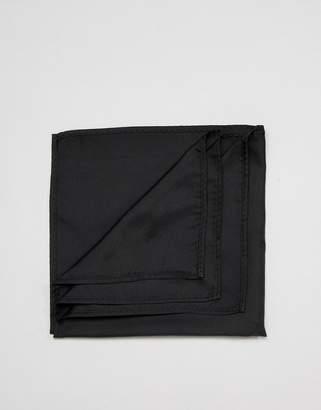 Asos Design DESIGN pocket square in black
