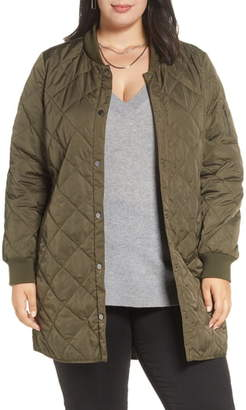 Halogen Quilted Bomber Coat