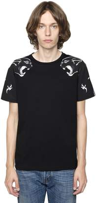 Valentino Panther Printed Cotton Jersey T-Shirt