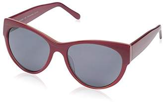 Society New York Women's Milled Oval Sunglasses