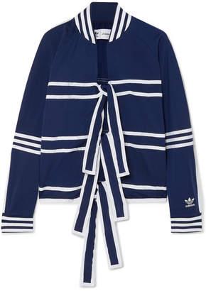 adidas Ji Won Choi Striped Satin-jersey Track Jacket - Navy