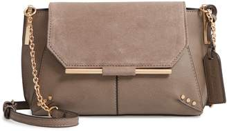 Sole Society Chusy Suede & Faux Leather Crossbody Bag