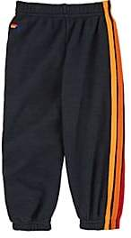 Aviator Nation Kids' Striped Cotton-Blend Sweatpants-Gray