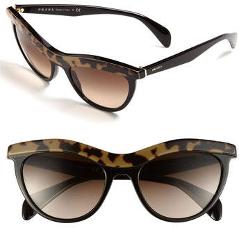 Prada Cat's Eye Sunglasses Brown One Size