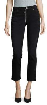 Hudson Ring-Zip Cropped Jeans